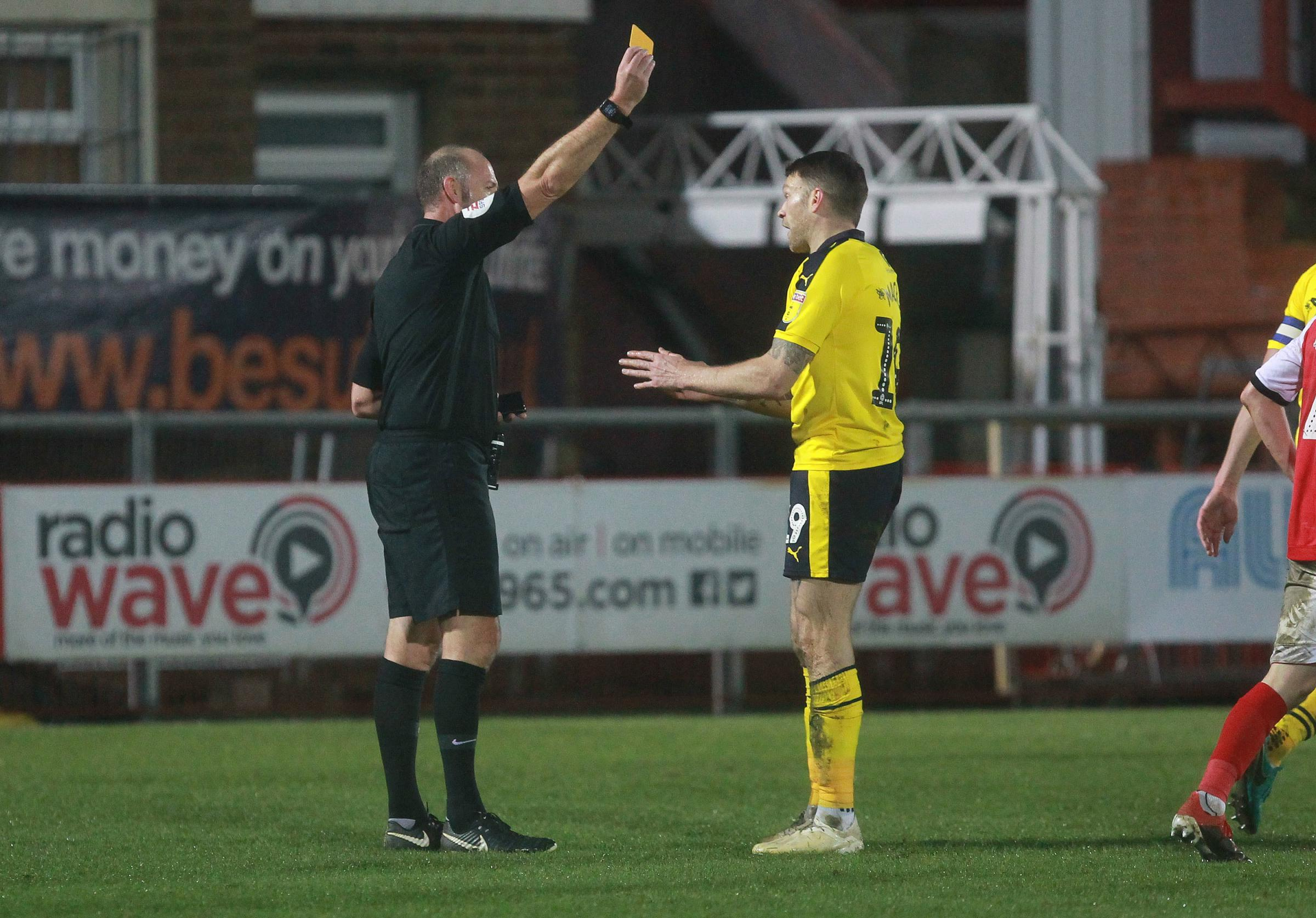 Jamie Mackie has been booked nine times this season  Picture: Richard Parkes