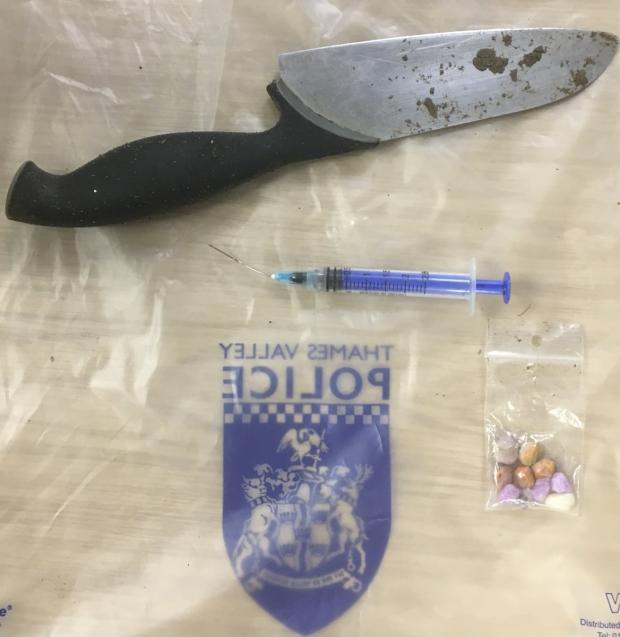 The Oxford Times: Knife, drugs and needle found in Marsh Park by TVP