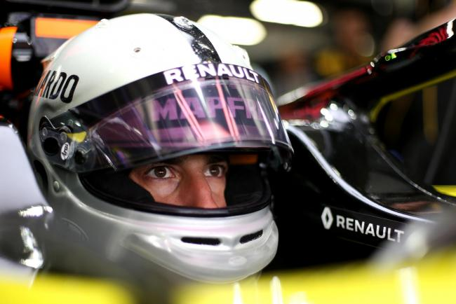 Renault's Daniel Ricciardo waits to head out on to the circuit during practice Picture: XPB / James Moy Photography Ltd