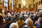 The audience at the Oxford Civic Society's event at Oxford Town Hall on Thursday