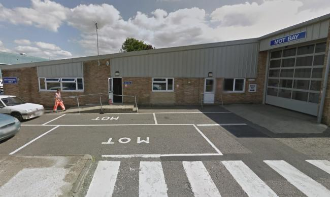Cherwell District Council's MOT depot at Thorpe Lane, Banbury. Picture: Google Maps