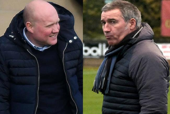 Oxford City boss Mark Jones and Banbury United manager Mike Ford go head-to-head tonight Pictures: Mike Allen and Ric Mellis