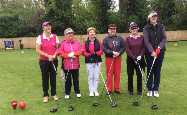 The Tournament of Champions line-up at North Oxford (from left): Lorraine Watkins, Trish Traynor, Anne Barras, Sally Stewart, Margaret Eynon and Sue Stewart