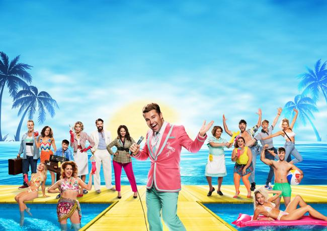 Joe McElderry, centre, joins a star line-up for '80s musical Club Tropicana at the New Theatre Oxford