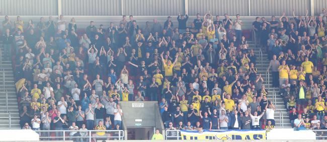 Oxford United supporters at Sunderland this season  Picture: Richard Parkes