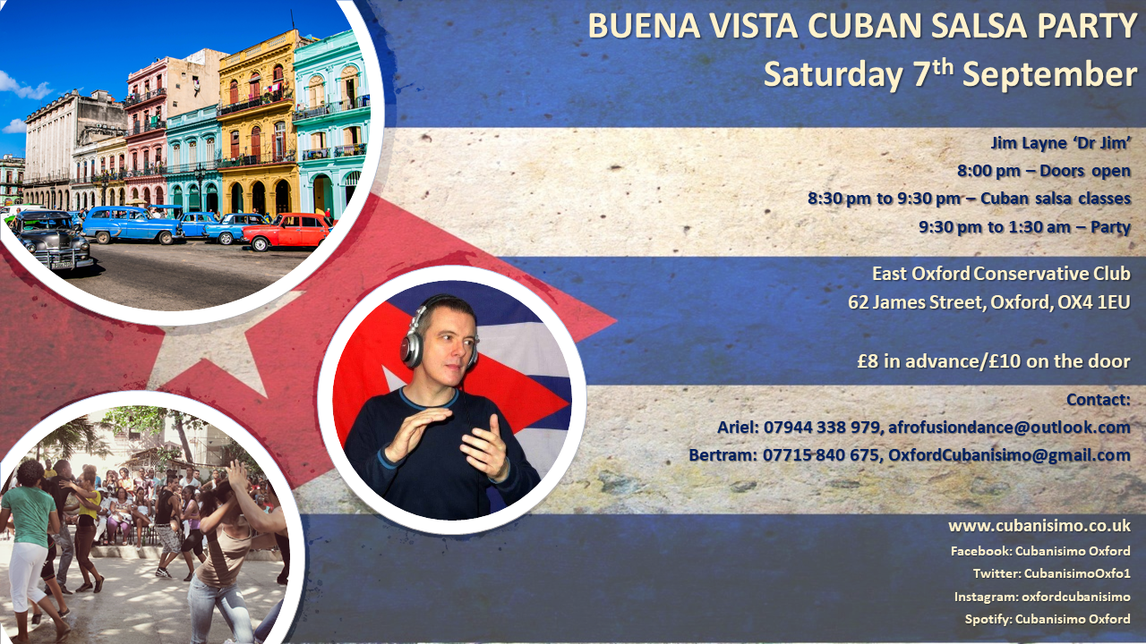 Oxford Buena Vista Cuban Salsa Party