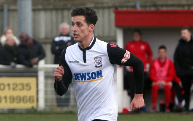 Pablo Haysham in action for Hereford in 2017